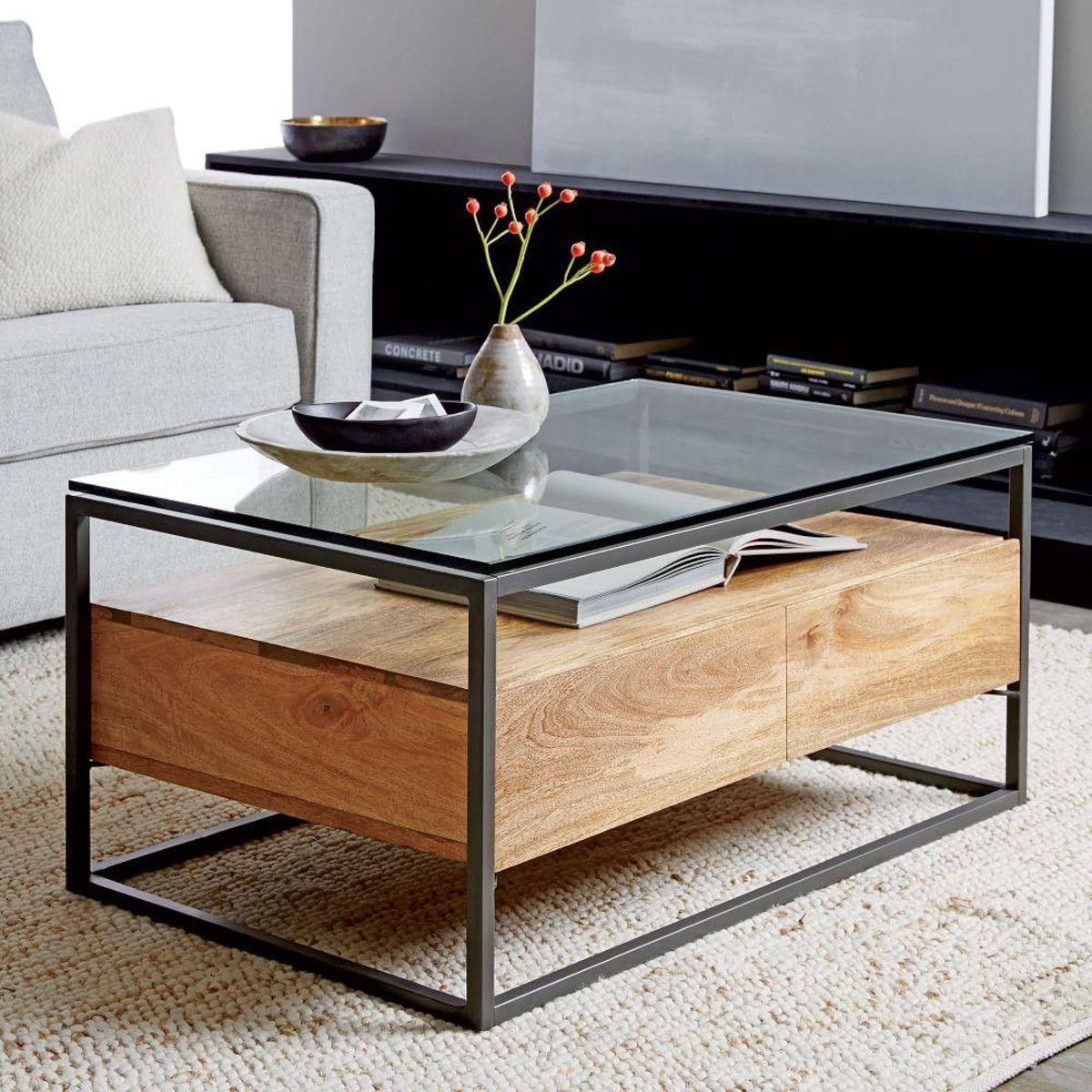 Box Frame Storage Coffee Table In 2019