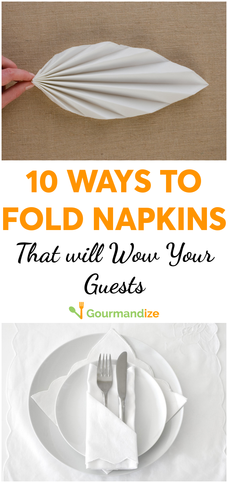 10 ways to fold napkins that will wow your guests  #foldingnapkins Whether it's for a Sunday lunch or a holiday meal, we love folding napkins into beautiful shapes, so here are 10 great ideas to wow your guests.  #napkins #napkinfolding #entertaining #hosting #tablescape #foldingnapkins