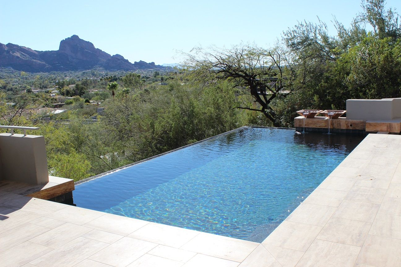 Marble Pool Decks Enchanting Contemporary Pool Deck With A View Featuring Espresso Veincut