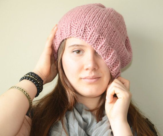 hand knit soft hat slouchy hat winter by LOVELYCHICKNITTING, $25.00