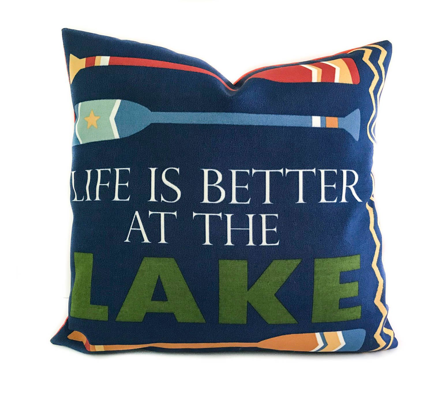 Lake Life Lumbar Throw Pillow Cover
