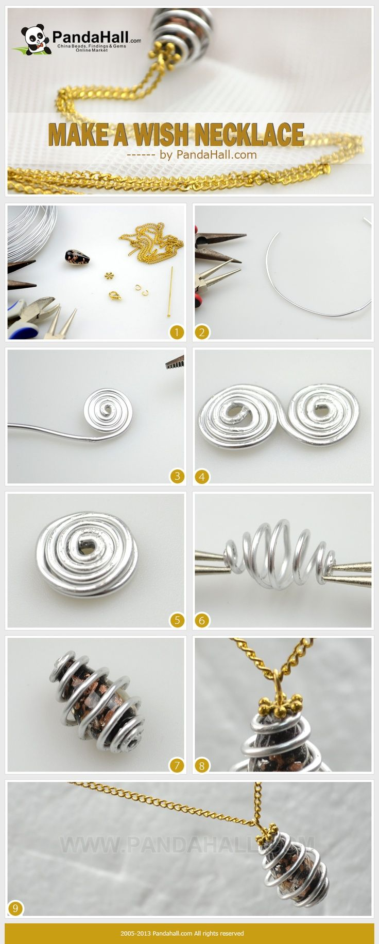 How to make a wish necklace? How to finish it with mere three easy ...