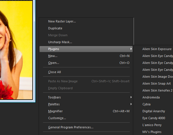 How to customize right click context menus in Corel