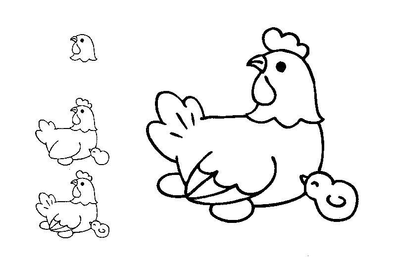 Mala Bondgardsdjur Animal Drawings Easy Cartoon Drawings Easy