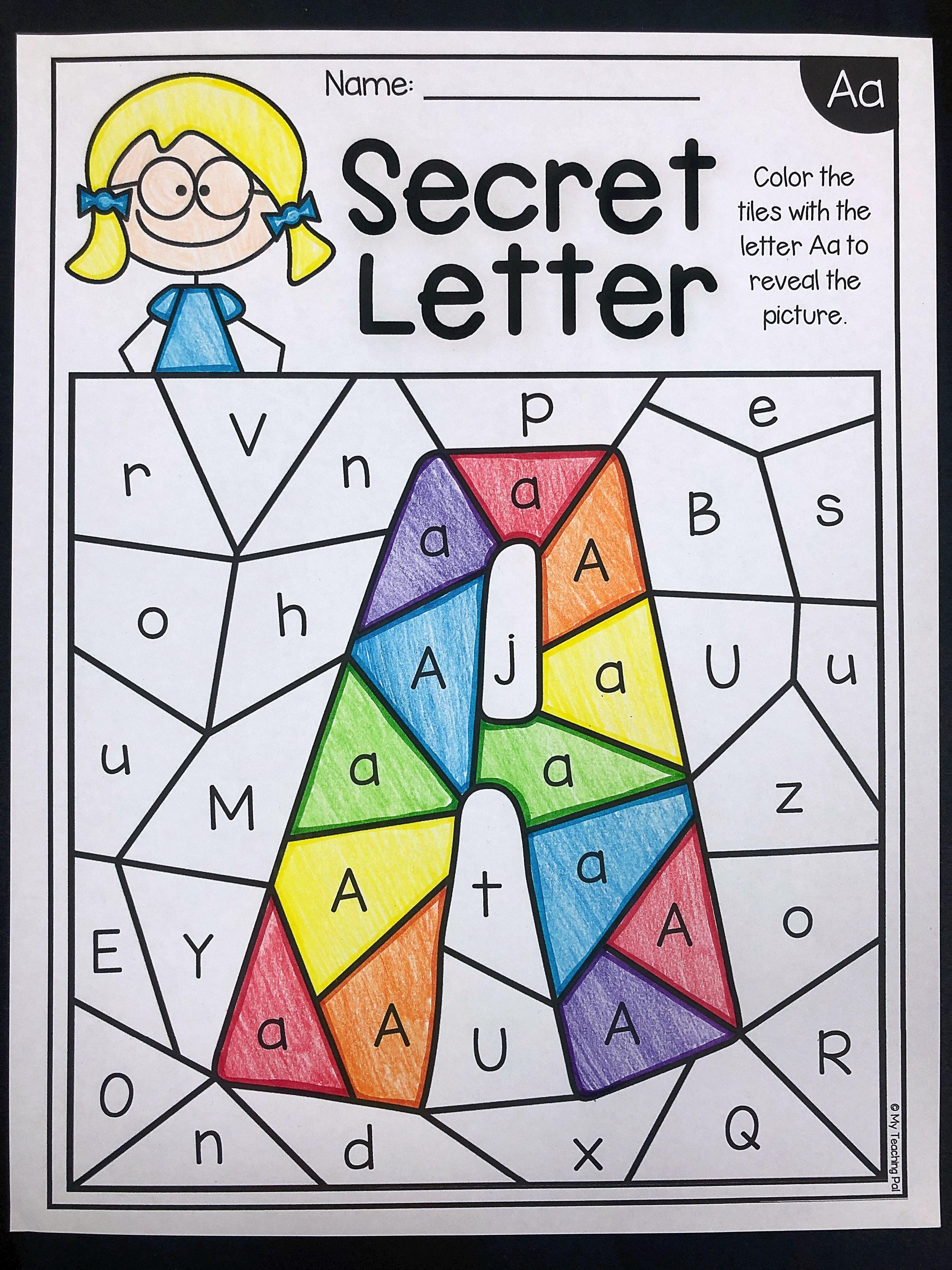 Predownload: Alphabet Identification Worksheets Secret Letter Alphabet Worksheets Kindergarten Alphabet Activities Preschool Preschool Letters [ 4032 x 3024 Pixel ]