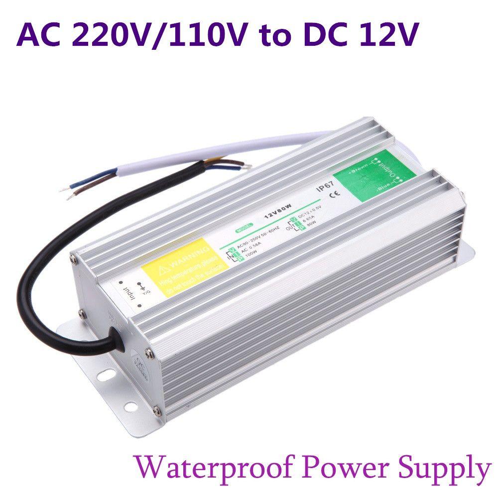 dc 12v led power supply 50w 60w 80w 100w 150w transformer waterproof