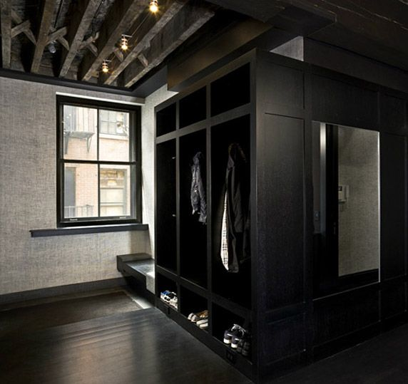 paola salinas modern black mud room with black mud room