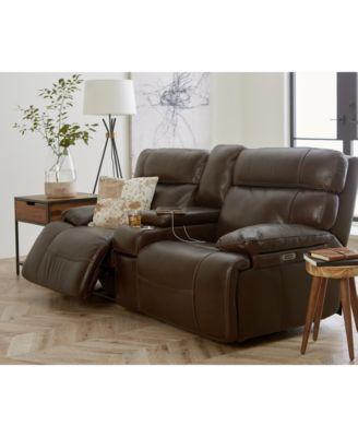 Barington Leather Power Reclining Sofa With Power Headrest Collection Power Reclining Sofa Recliner Reclining Sofa