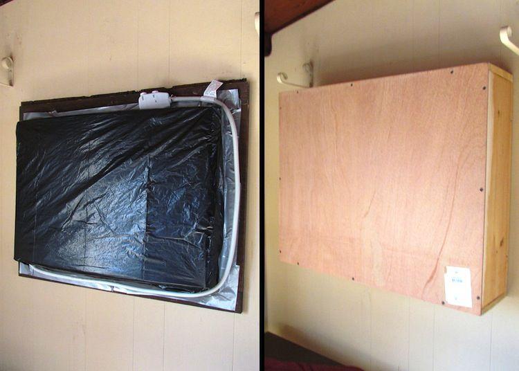 Chalkboard A C Unit Cover Decor Hacks Air Conditioner Cover Diy Air Conditioner Window Ac Cover