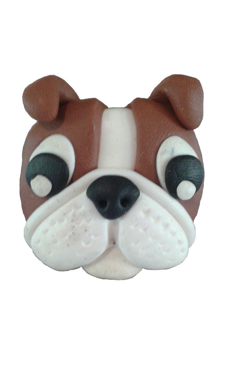 Bulldog fridge magnet - dog  handmade fimo - polymer clay magnet by DaliahArt on Etsy https://www.etsy.com/listing/467985619/bulldog-fridge-magnet-dog-handmade-fimo