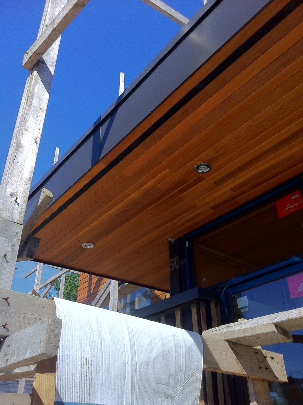 This Is How Our Soffit Should Look North Burnaby Broadway House Wong Residence Architecture Cedar Outdoor Shower