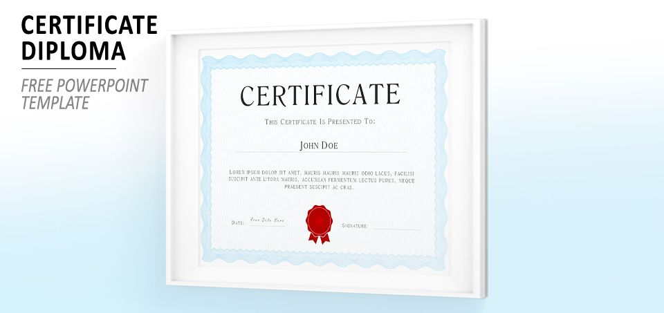 Sage Green PowerPoint Certificate Diploma Template Templates for - powerpoint certificate template