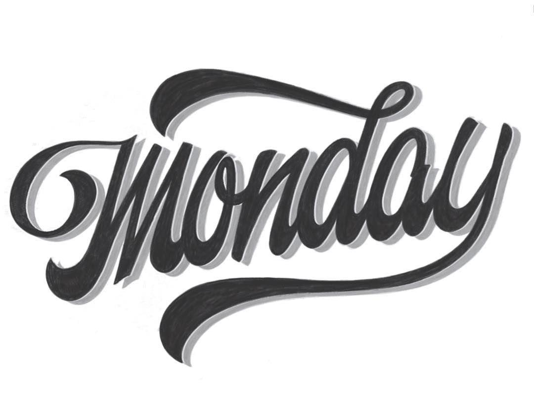 Monday procreate IpadLettering Lettering Script