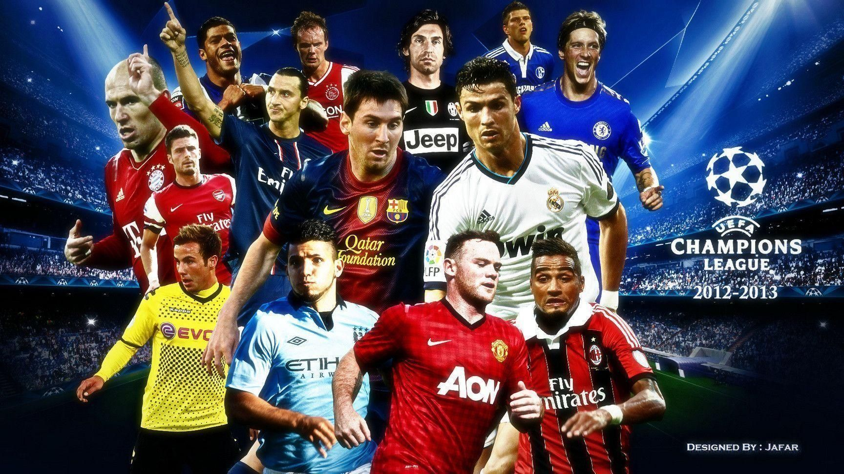Football Stars Wallpapers In 2020 Uefa Champions League Manchester United Wallpaper Champions League