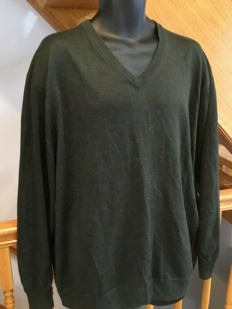 Details About Jos A Bank Mens Green Merino Wool Sweater Executive Collection Size Xxl Merino Wool Sweater Wool Sweaters Mens Green