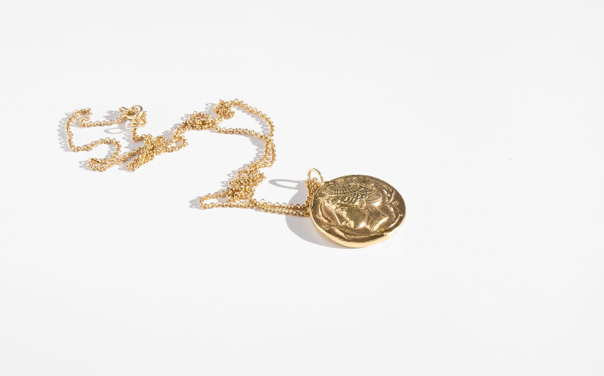 chanel gold from amarcord coin necklace products rue of fashion medallion vintage cambon