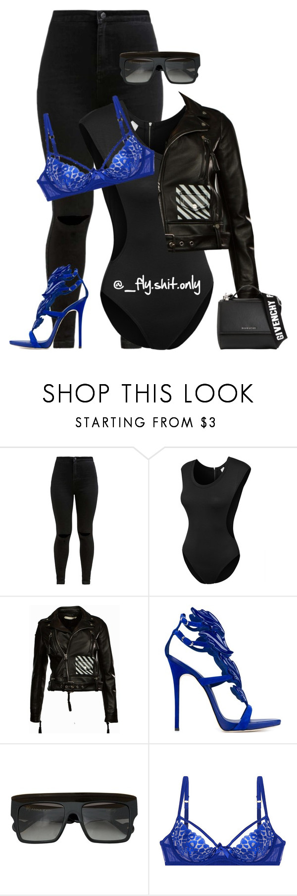 """""""Untitled #2168"""" by flyyshitonly ❤ liked on Polyvore featuring LE3NO, Giuseppe Zanotti, Anna-Karin Karlsson, L'Agent By Agent Provocateur and Givenchy"""