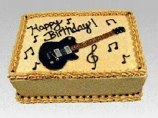 Happy Birthday Guitar Birthday Cakes Guitar Cake Happy Birthday Guitar