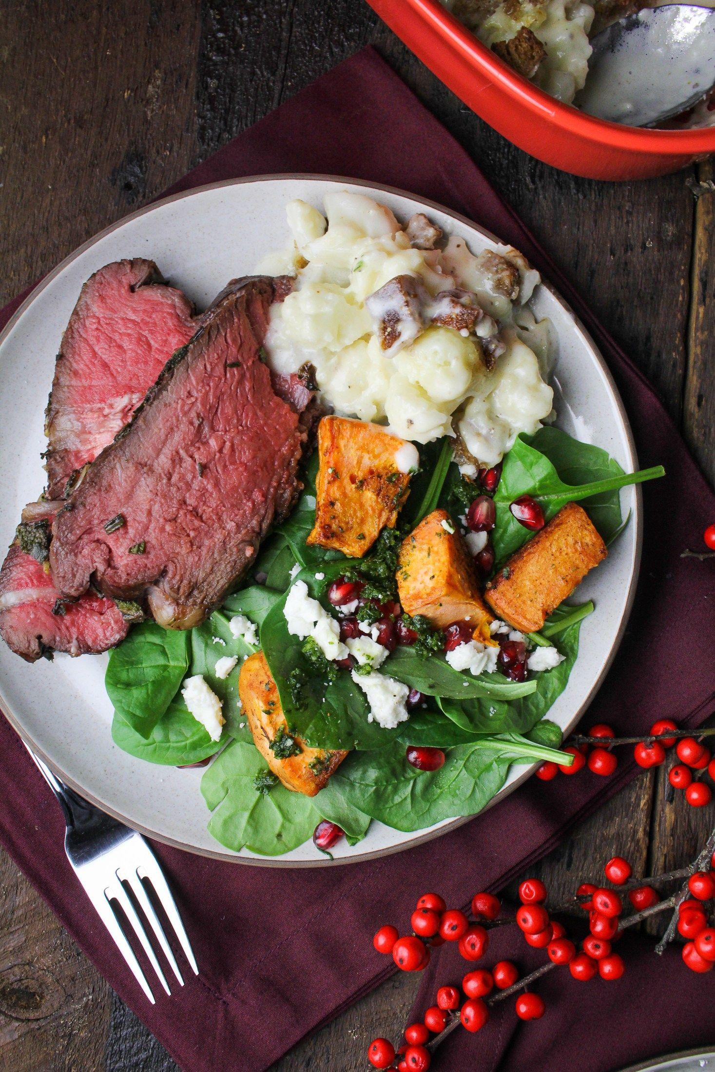 Sunday Dinner // Herb-Crusted Roast Beef, Roasted Root Vegetable ...