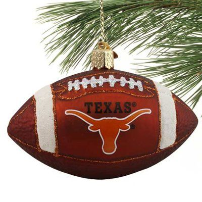Texas Longhorns Glass Football Ornament! Check out all of the Longhorns  Holiday decor here: - Texas Longhorns Glass Football Ornament Texas Longhorns