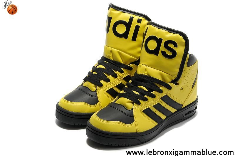 best sneakers f039d 6fa7b Buy New Adidas X Jeremy Scott Instinct Hi Shoes Yellow Sports Shoes Shop