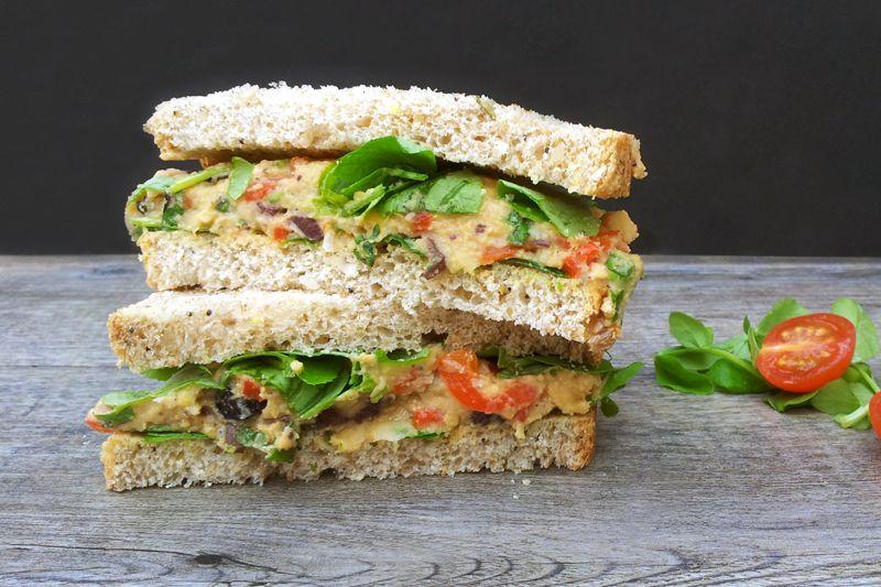 Golden Retriever 11 Dog Bowl Mediterranean Sandwich Healthy Vegan Snacks Chickpea Sandwich