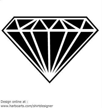 White Black Diamond Tattoo Design