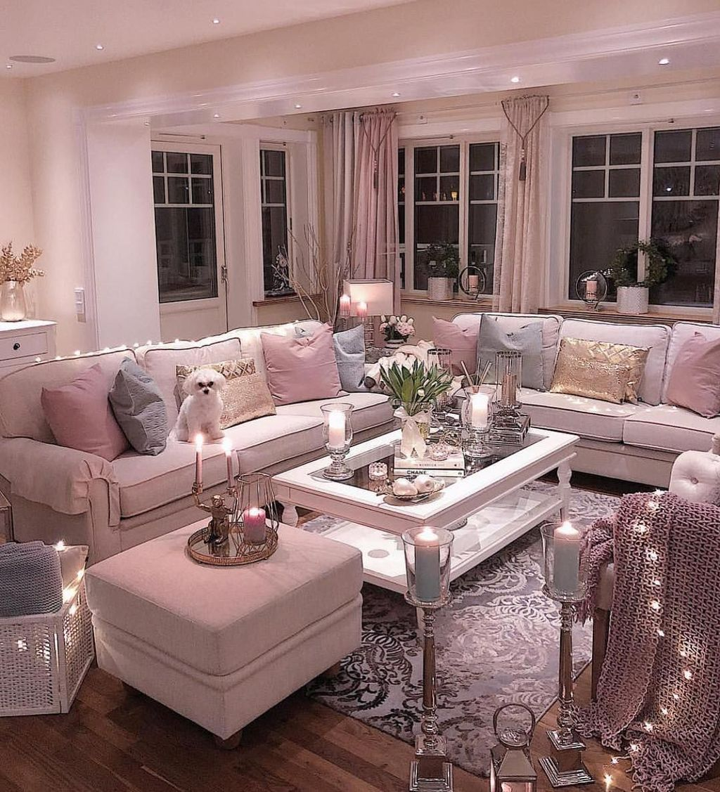 31 Beautiful Pink Living Room Decoration Ideas Brown Living