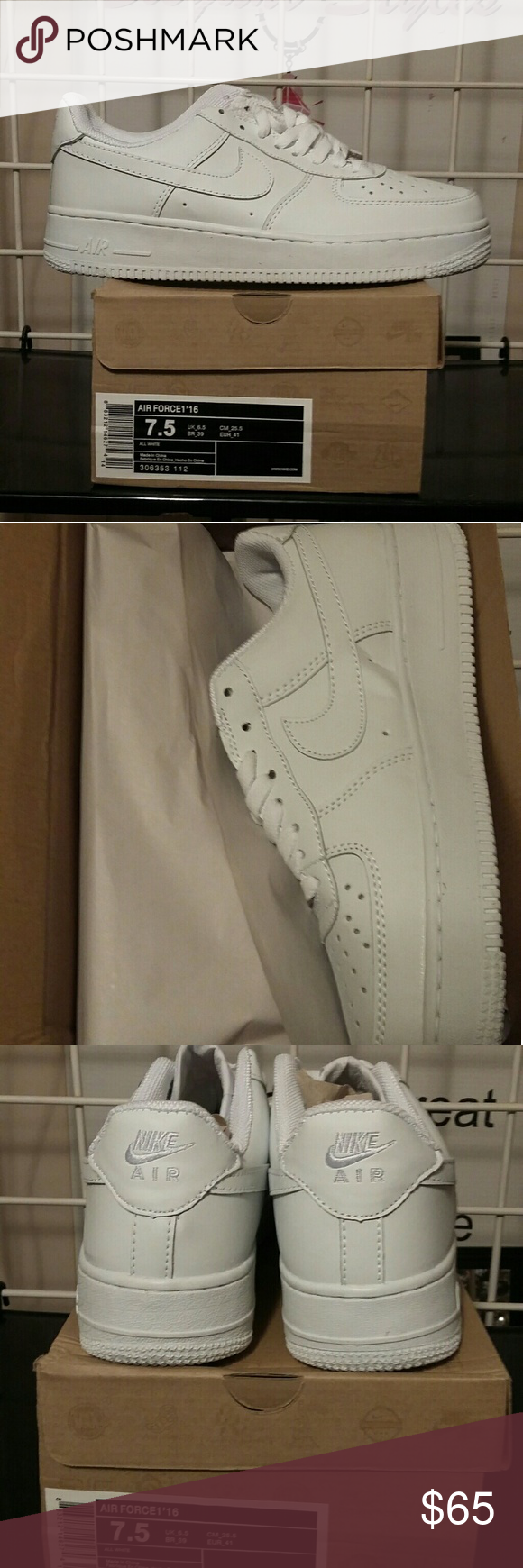 38e07d8f60a3 Nike Air force 1. New with box. Size 7.5 Nike Air force 1. New with box. Size  7.5. White. Nike Shoes Sneakers