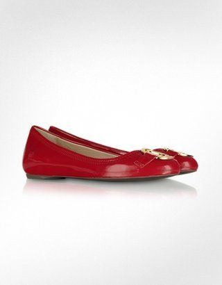 9ebfd19f3 ShopStyle: Moschino Love Moschino - Red Patent Ballerina Shoes ...
