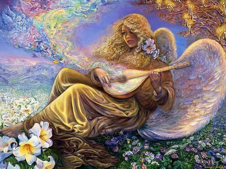 White Angel Josephine wall, Angel art, Painting