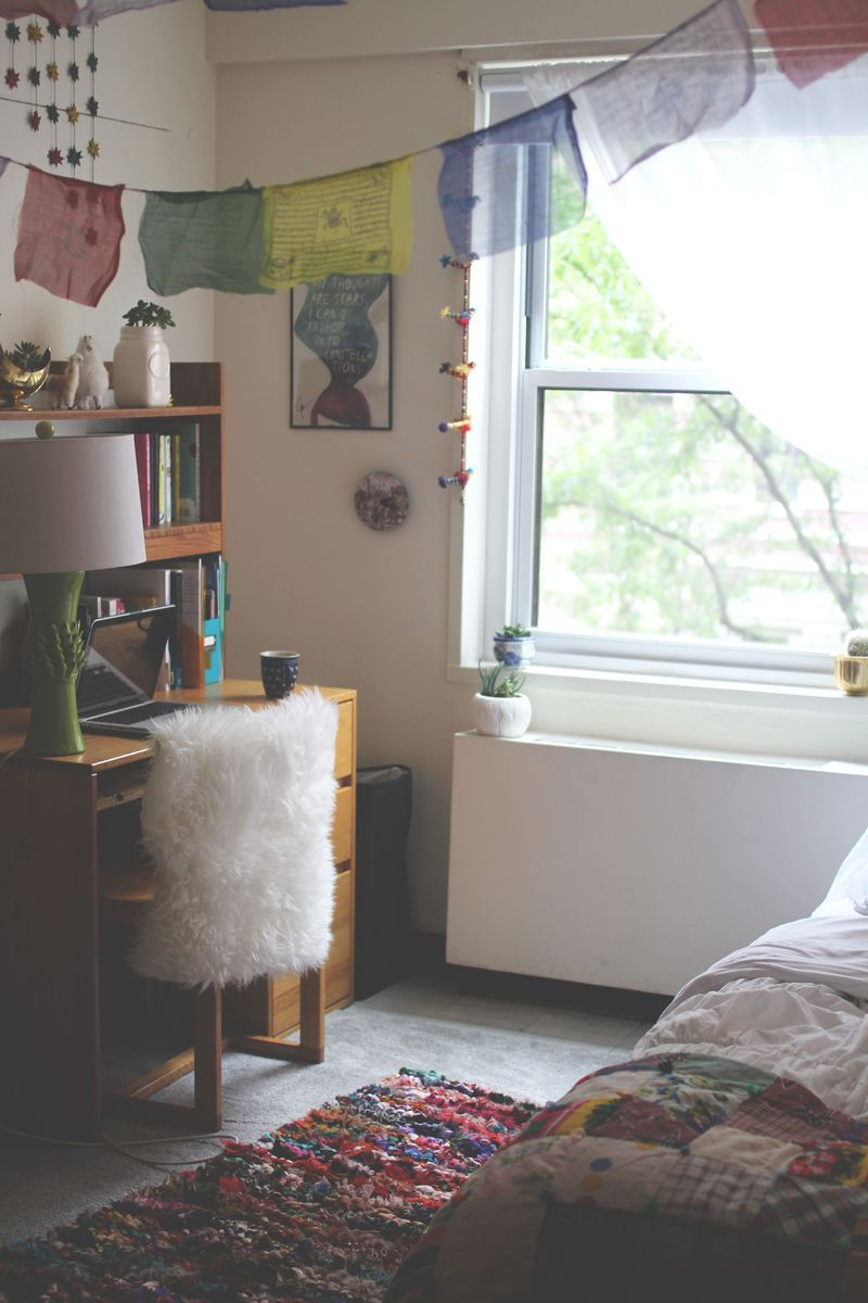 Dorm Room Furniture: Already Bought A Faux Sheepskin For My Desk Chair. :) What