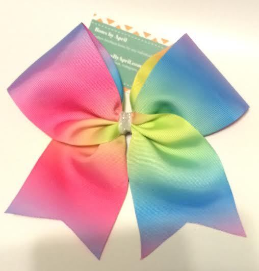 Bows By April Rainbow Tie Dye Ribbon Cheer Bow 8 00 Http