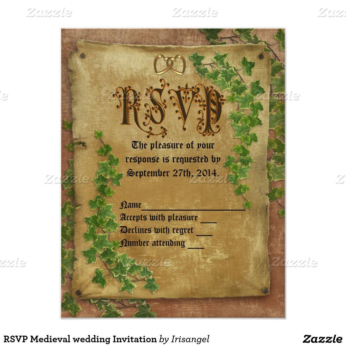 Rsvp medieval wedding invitation medieval wedding rsvp and medieval rsvp medieval wedding invitation stopboris Choice Image