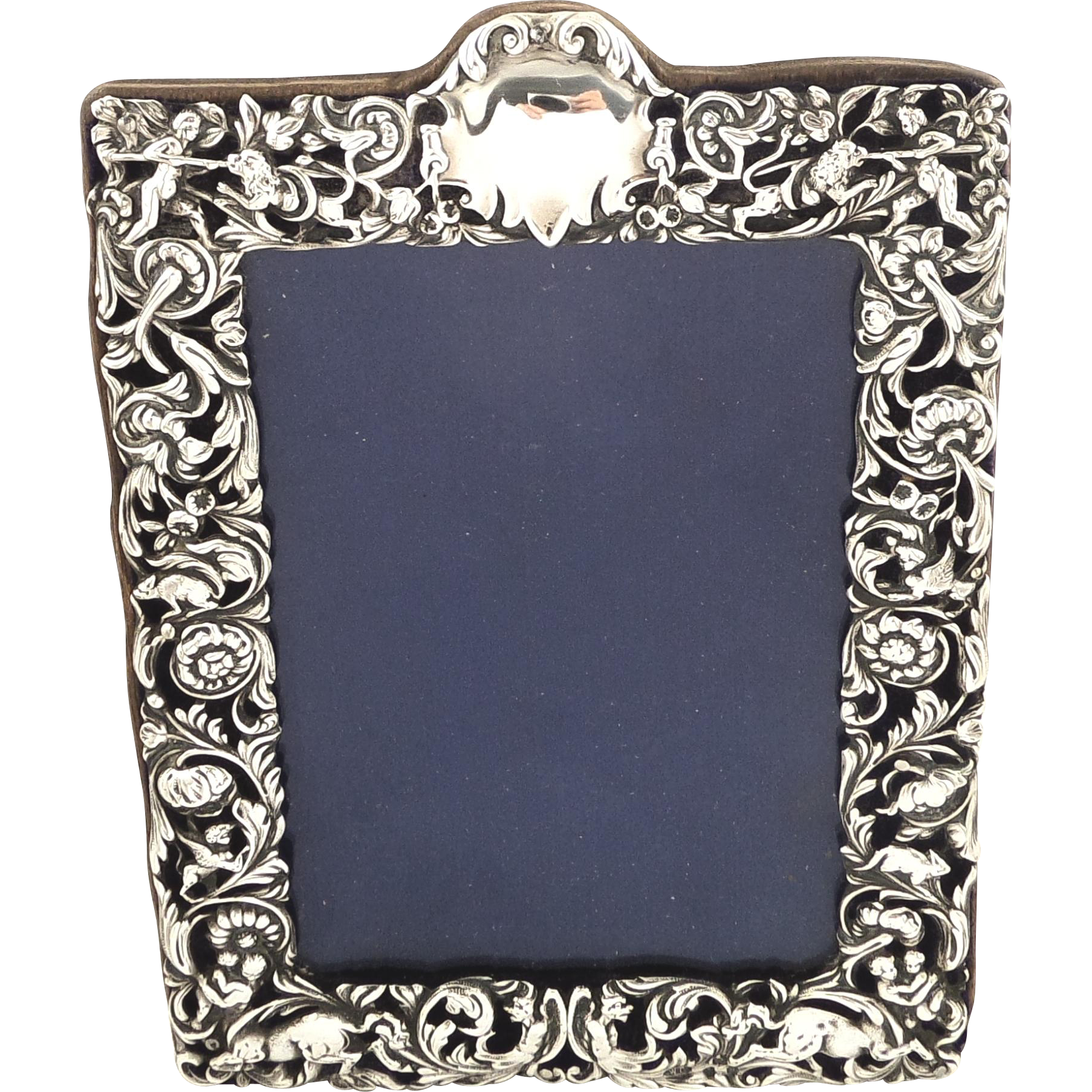 Antique Victorian Sterling Silver Photo Frame - 1896 - Lions ...