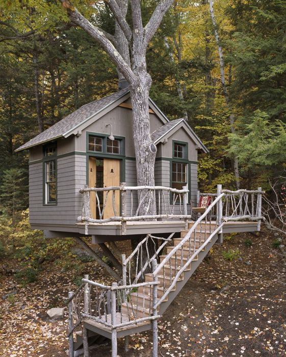 Tree house designed by maine home builders welcome home for Maine home builders