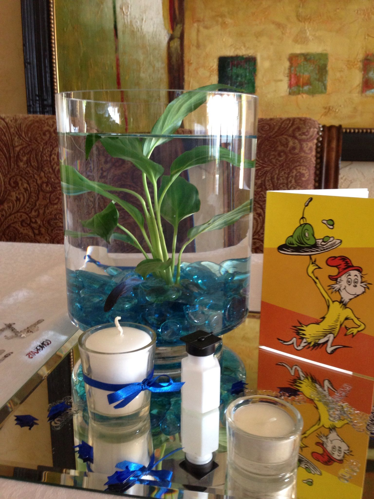 Perfect Centerpiece For A Graduation Party Fish Bowl, Betta Fish