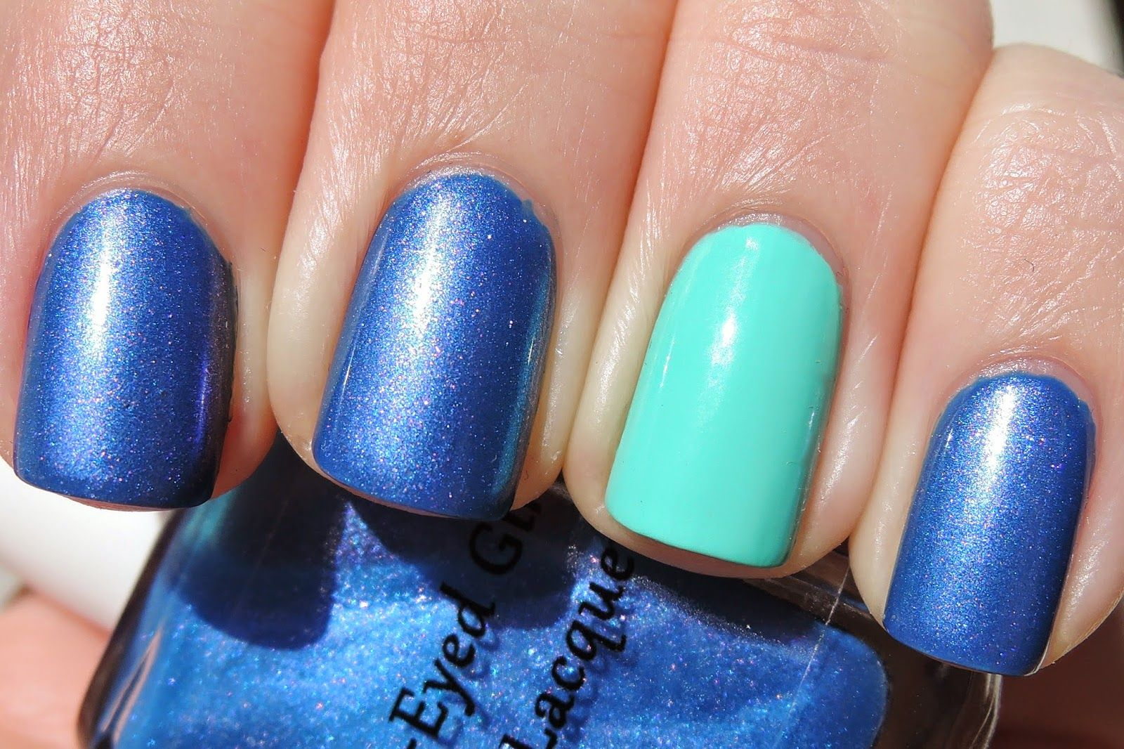 My Life in Polish BlueEyed Girl Lacquer Birthday nails