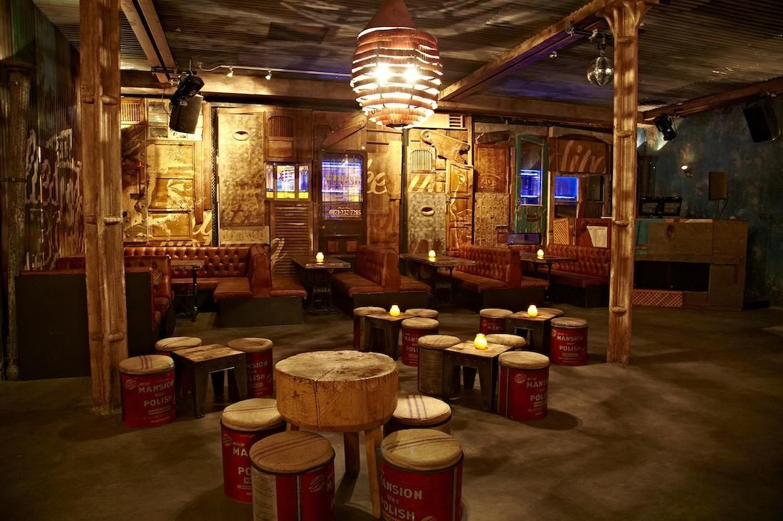 Oil Drum Stools Fab Walls Ideas For Stathams Bar