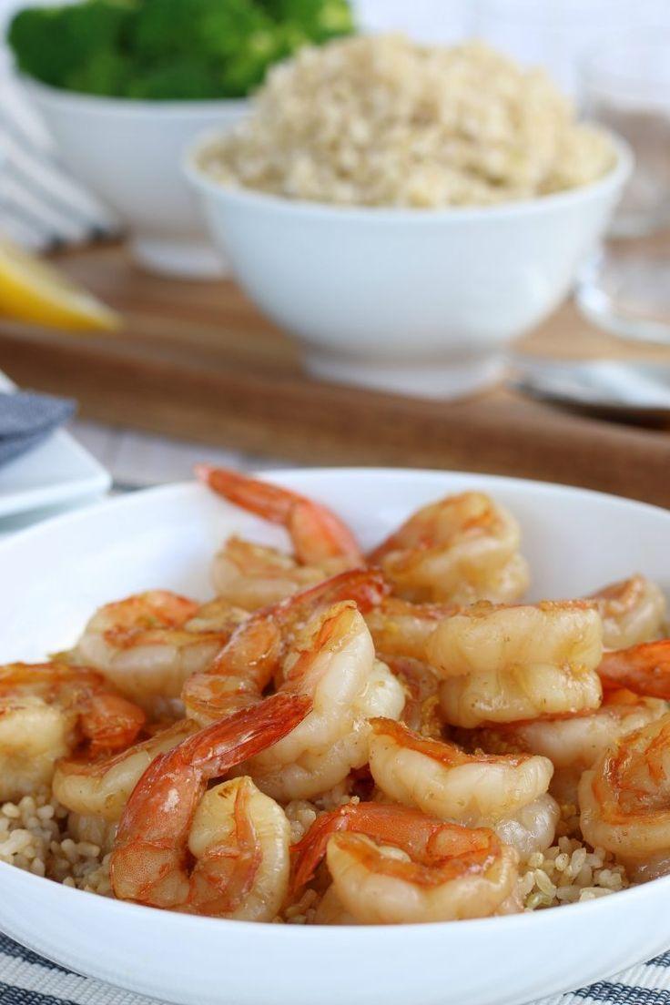 Honey Garlic Shrimp #garlicshrimprecipes