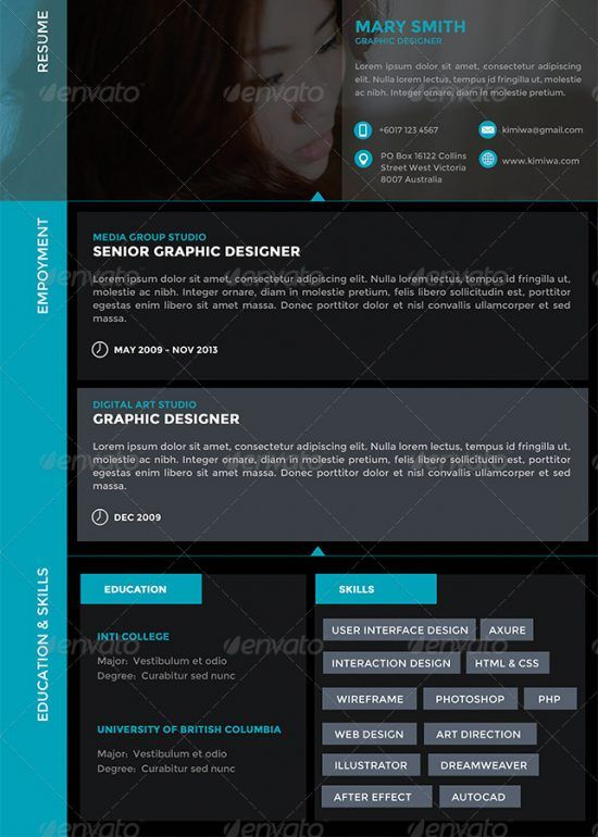 25+ Best Creative Resume For Graphic Designers (PSD File \ Ideas - graphic designers resume
