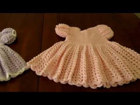 Crochet Ruffled Baby Dress Free Online Pattern Search Ruffled Baby