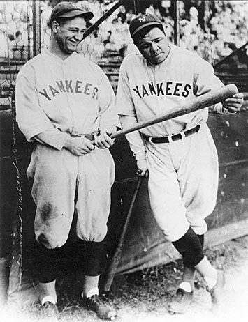 Lou Gehrig Lou Gehrig Babe Ruth New York Yankees