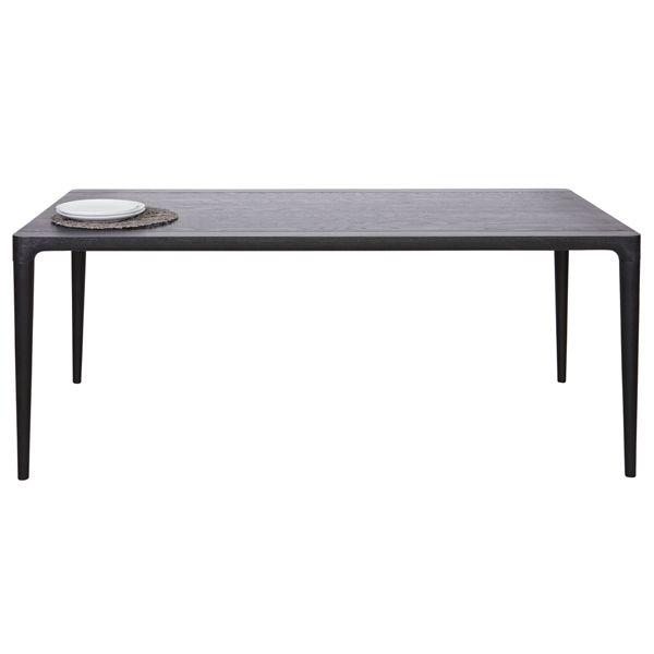 esstisch troy holztisch dinnertisch tisch esche massiv schwarz esszimmertisch new maison. Black Bedroom Furniture Sets. Home Design Ideas