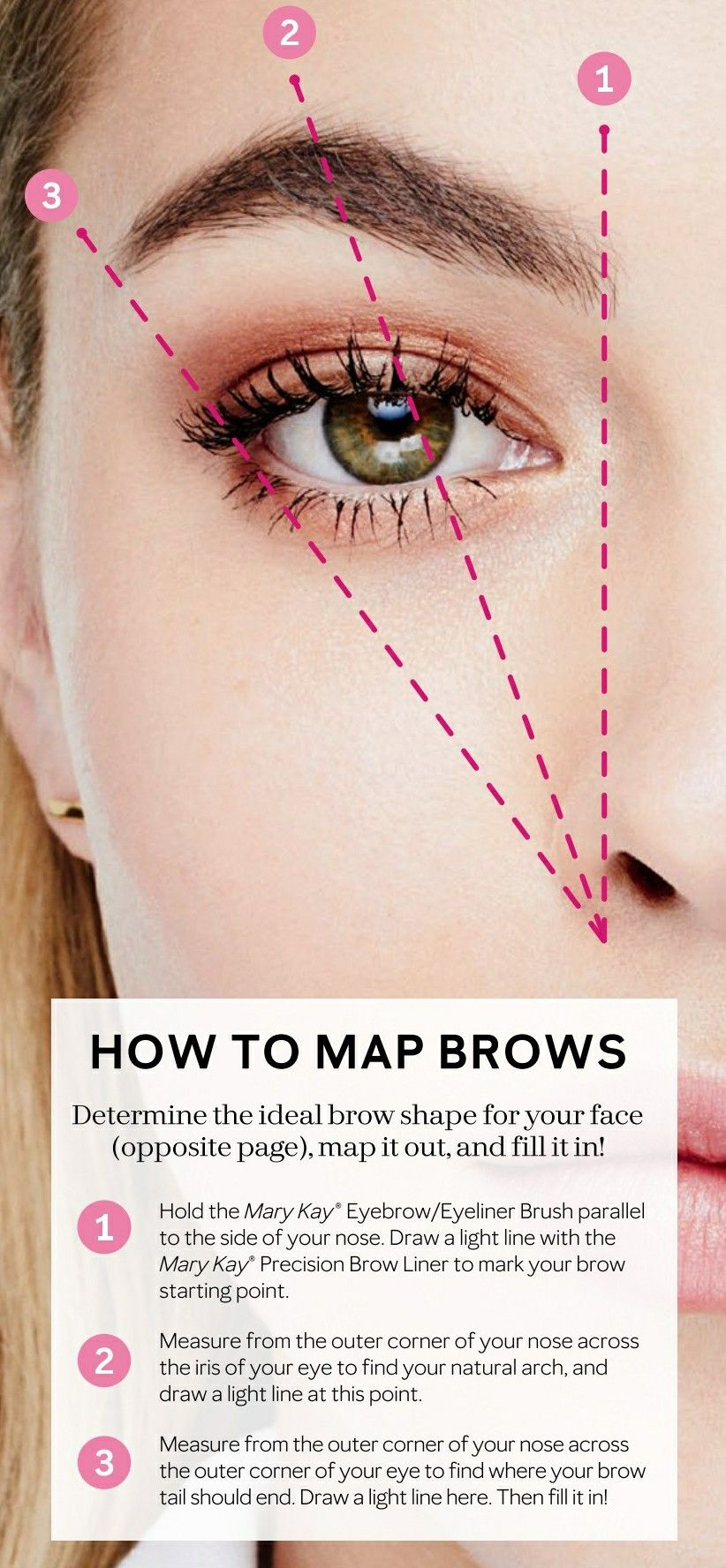 How To Map Your Eyebrows Some Have A Natual Born With Map And