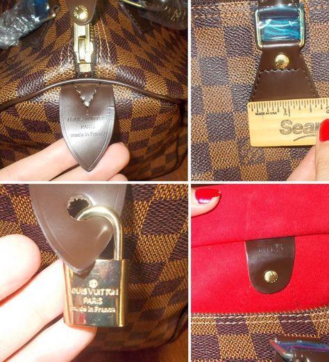 35b793d5d681 datecode hardware trim fake authentic Louis Vuitton damier ebene bag  authentication examples