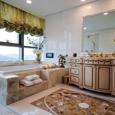 bathroom romantic curtains design, pictures, remodel