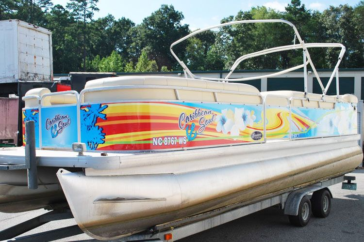 Polished Toon Tubes Pontoon Boat