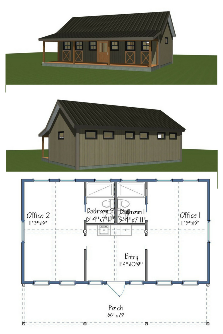 Small Yankee Barn Bunkhouse With Endless Possibilities Barn House Design Bunk House Barn Homes Floor Plans