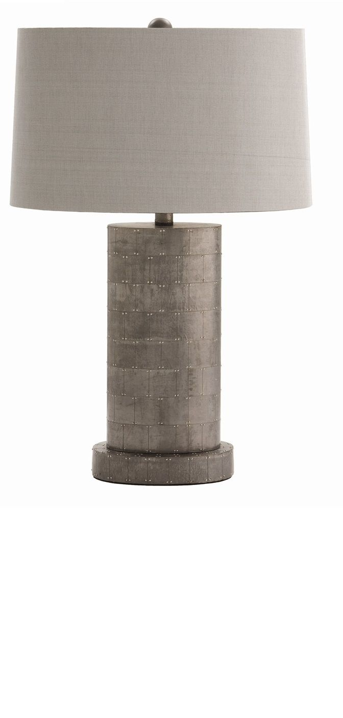 Grooved Concrete Table Lamp Small Contemporary Table Lamps Concrete Table Lamp Modern Table Lamp